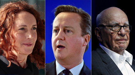 A combination photo shows Rebekah Brooks, David cameron and Rupert Murdoch © Reuters