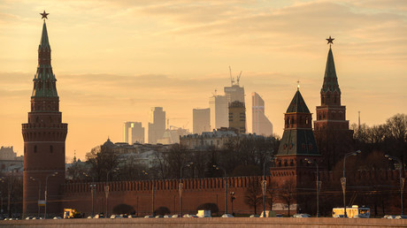 View of the Moscow Kremlin. © Evgenya Novozhenina