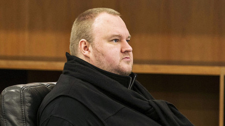 German tech entrepreneur Kim Dotcom attends a court hearing in Auckland, New Zealand, September 21, 2015. © Nigel Marple