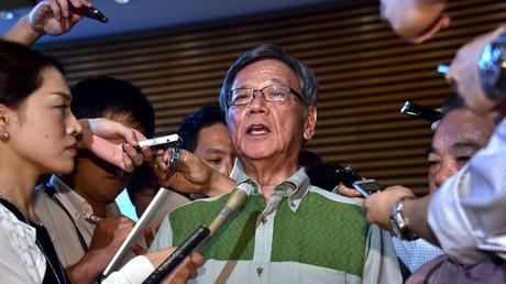Okinawa Governor Takeshi Onaga. © Yoshikazu Tsuno