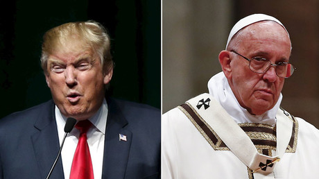 U.S. Republican presidential candidate Donald Trump (L) and Pope Francis. © Reuters