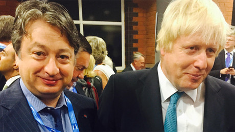 Businessman Alexander Temerko with London mayor Boris Johnson during the Conservative Party Conference 2015 © alexandertemerko.co.uk