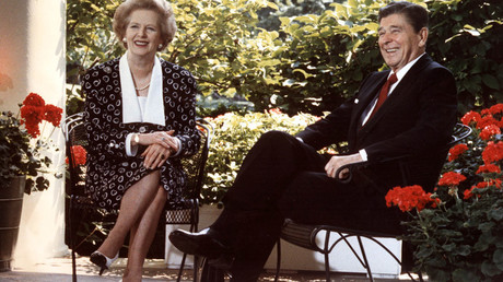 Ronald Reagan and Margaret Thatcher © Mike Sargent