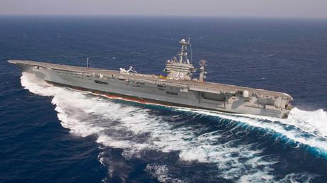 The aircraft carrier USS Harry S. Truman © Kristina Young