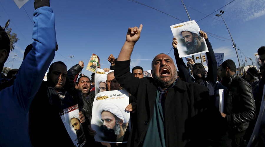 Thousands protest in Baghdad over Saudi execution of Shiite cleric (VIDEO)