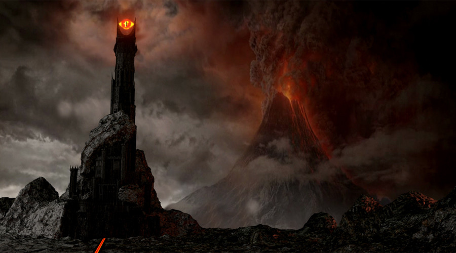 Mount Doom and the Dark Tower © lotr.wikia.com