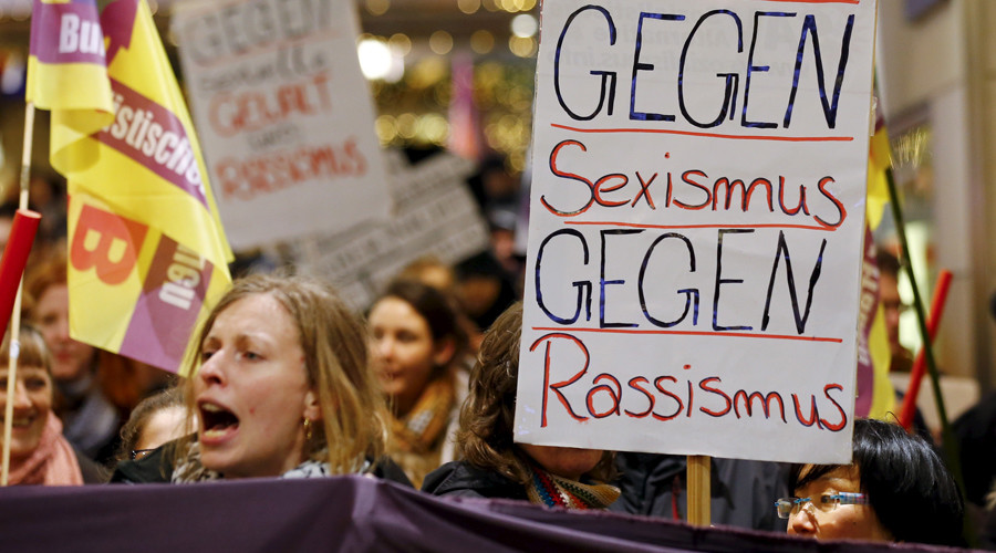 Hundreds rally against sexual violence after NYE attacks in Cologne