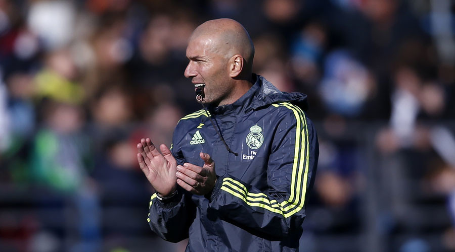 Real Madrid's new coach Zinedine Zidane. © Juan Medina