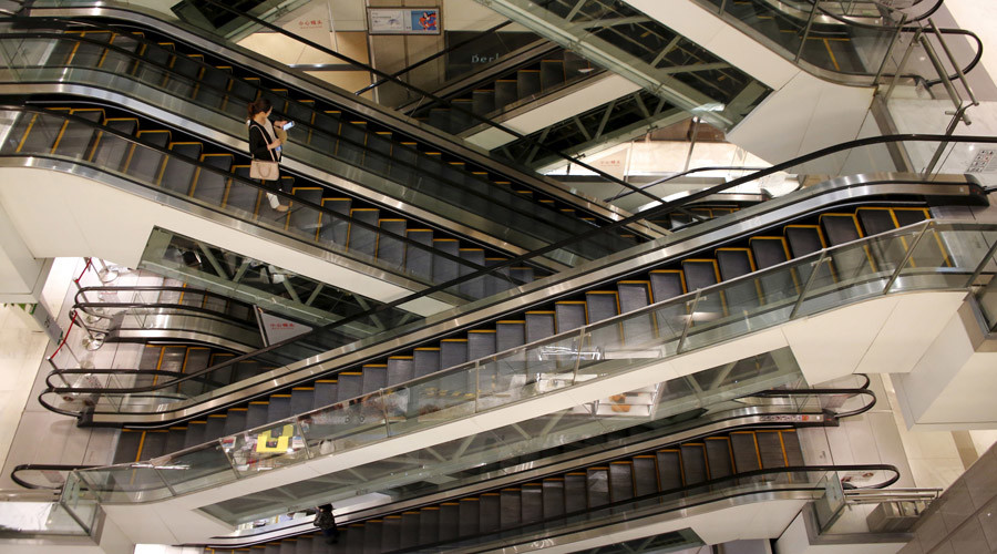 That escalated quickly: Shoppers save child trapped by escalator (VIDEO)