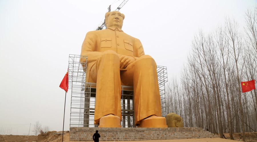 Apocalypse Mao: Giant gold statue of Communist leader demolished