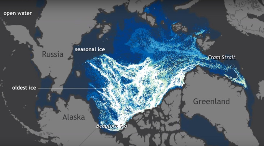 25 years of Arctic ice melting in one minute (TIMELAPSE VIDEO)