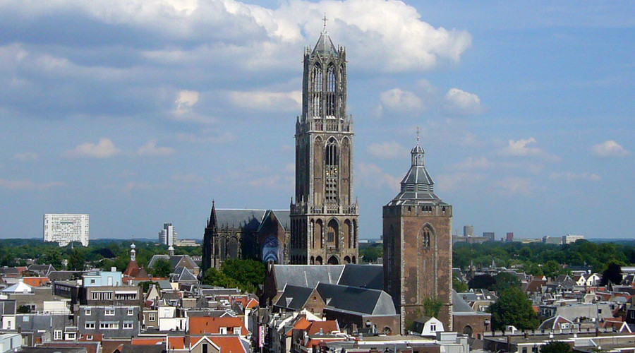 Bowie's music rang from Dom Tower in Utrecht. © Pepijntje