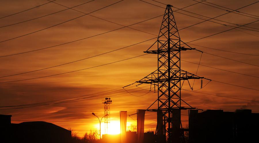 Power transmission lines in the Lvov region. © Str.
