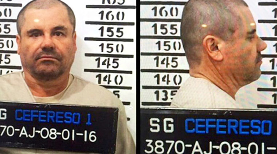 The official booking photo of Joaquin 'El Chapo' Guzman at the Centro Federal de Readaptacion Social 1 (Cefereso) of the high security prison in Mexico City, Mexico. © CEFERESO
