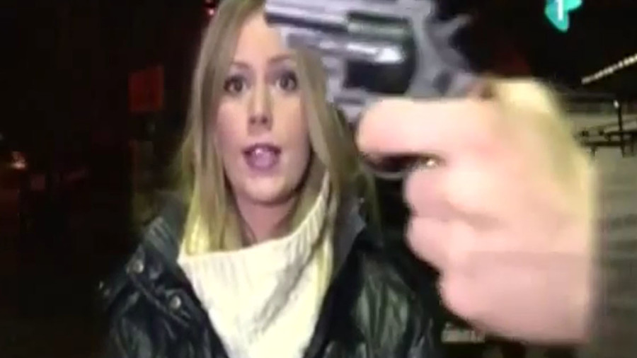 Man with gun interrupts Serbian TV weather report, threatens crew (VIDEO)
