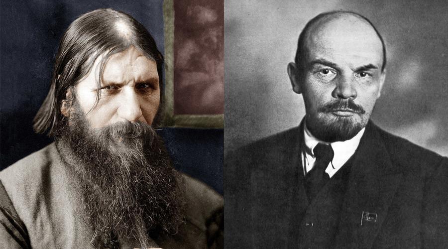 Grigori Rasputin and Vladimir Lenin © Wikipedia