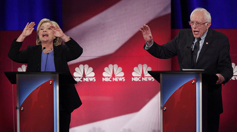 Clinton, Sanders tussle over Wall St, gun control, chemical weapons in pres debate