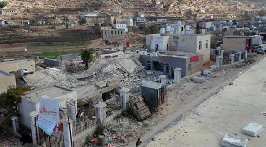The Shiara hospital, an MSF-supported facility in Razeh district, in Northern Yemen, was hit by a projectile on 10 January © msf.org