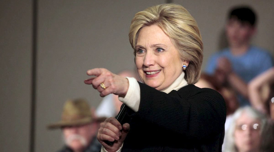 U.S. Democratic presidential candidate Hillary Clinton. © Brian C. Frank