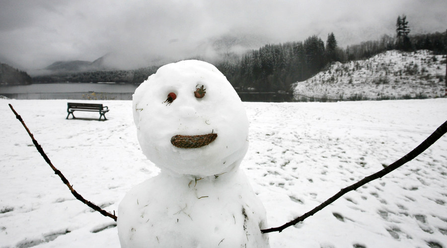 Winter isn't always as innocent as this snowman. © Andy Clark