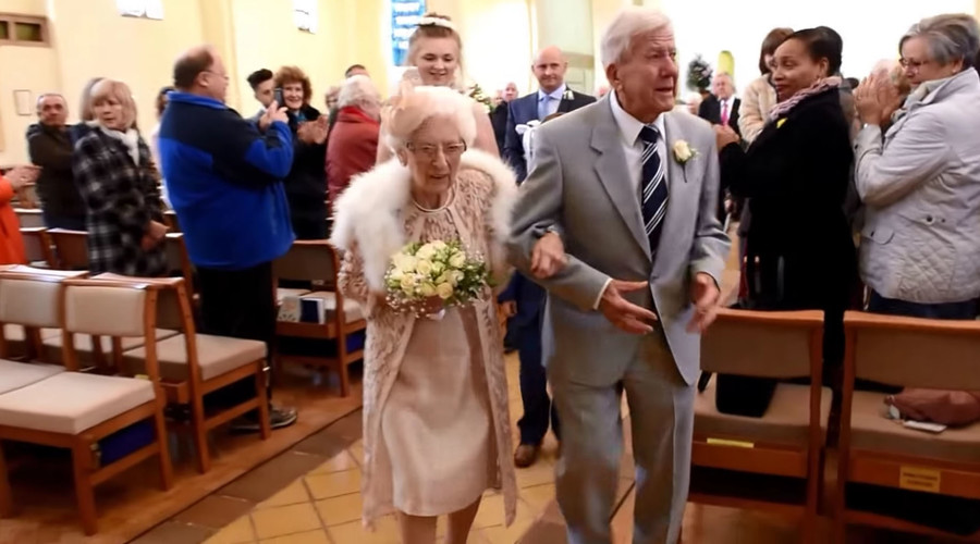 Never too old: 90-yo groom marries 96-yo bride