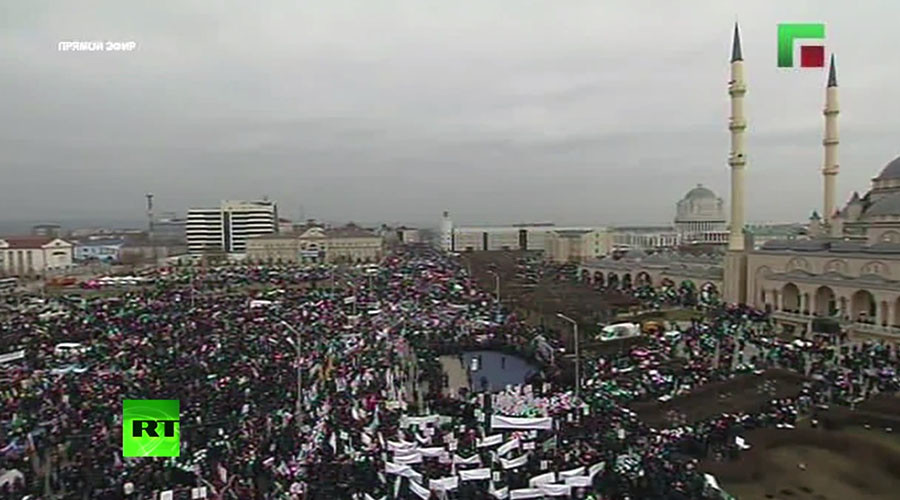 More than 700,000 rally in Grozny in support of Chechen leader Kadyrov