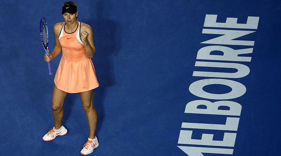 Sharapova changes dress, wins 600th career match