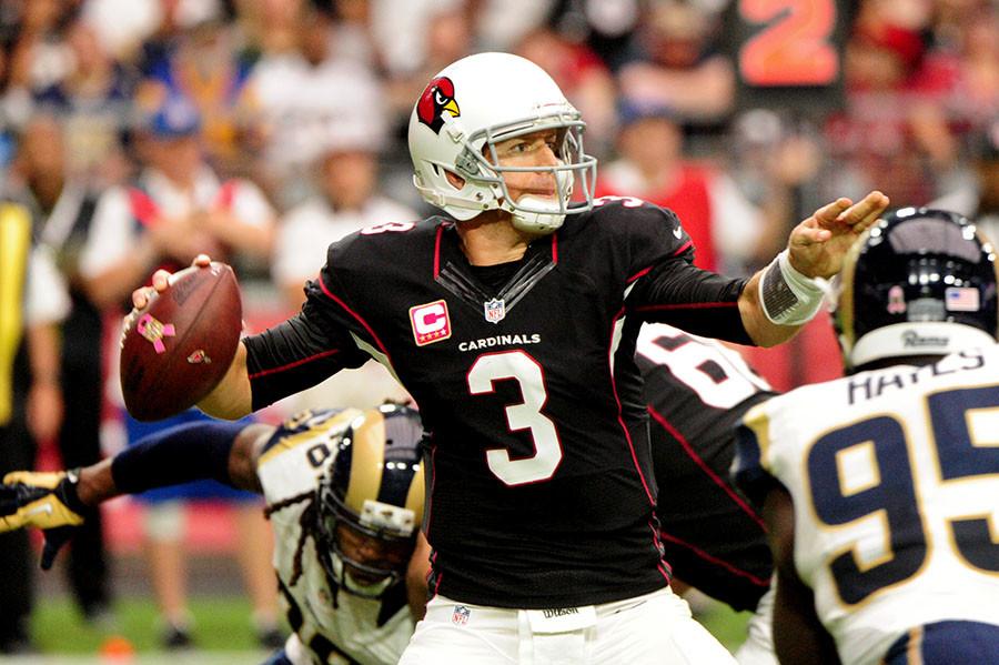 Arizona Cardinals quarterback Carson Palmer ©Matt Kartozian / USA TODAY Sports