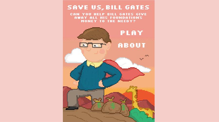 'Save us Bill Gates!' Satirical video game slams billionaire's philanthropy