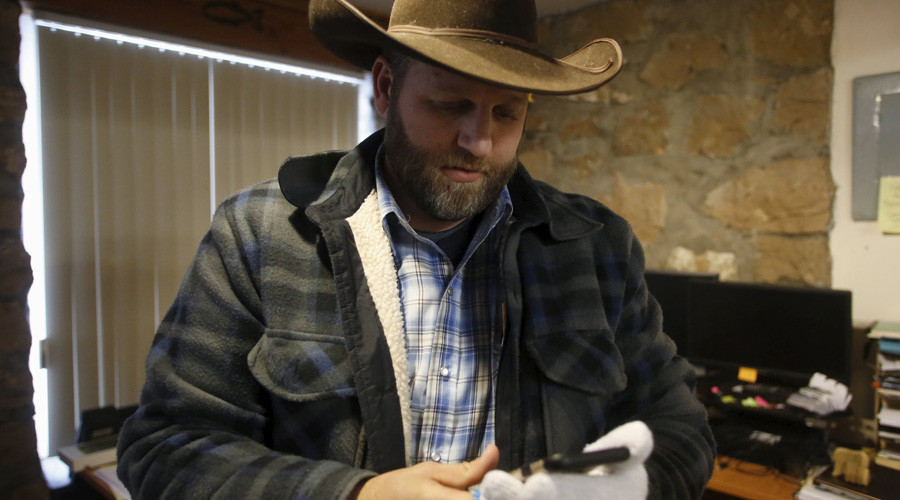 Ammon Bundy is seen in an office at the Malheur National Wildlife Refuge near Burns, Oregon, January 9, 2016. © Jim Urquhart
