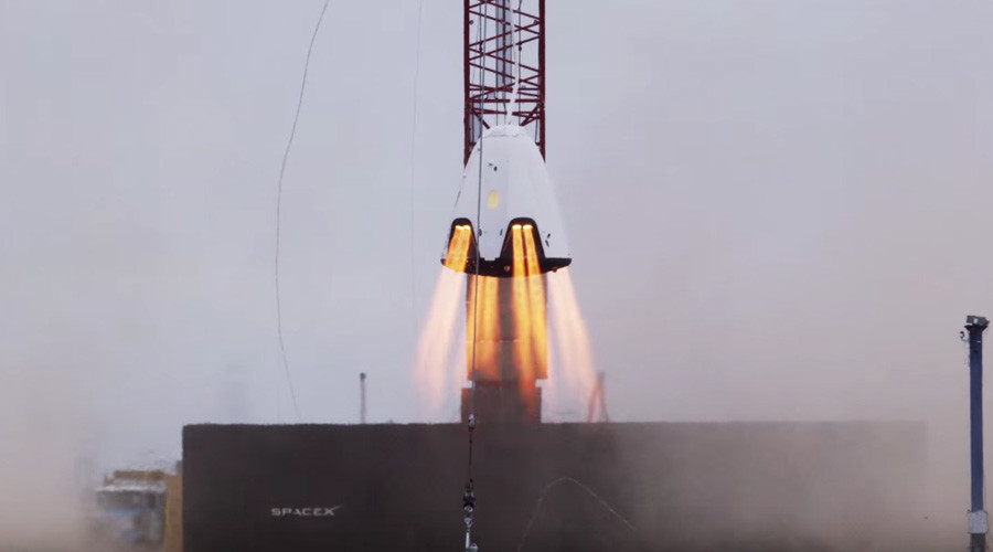 SpaceX tests SuperDraco thrusters designed for parachute-less landing (VIDEO)