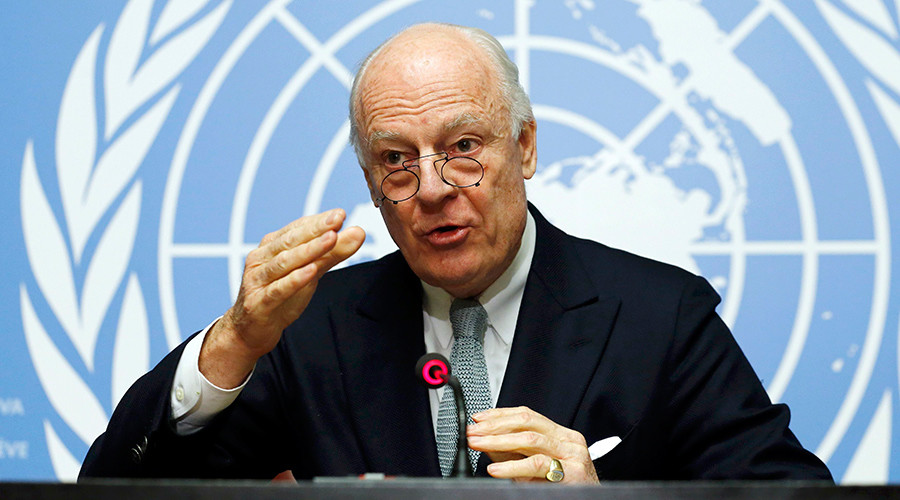 U.N. mediator for Syria Staffan de Mistura gestures during a news conference at the United Nations in Geneva, Switzerland January 25, 2016 © Denis Balibouse