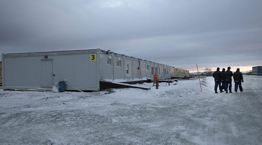 A new centre for refugees and migrants is pictured in Kirkenes, Norway © /Jan Morten Bjoernbakk
