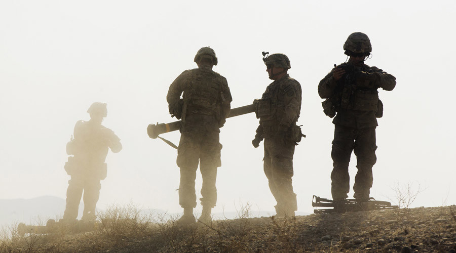 U.S. soldiers near forward operating base Gamberi in the Laghman province of Afghanistan. © Lucas Jackson
