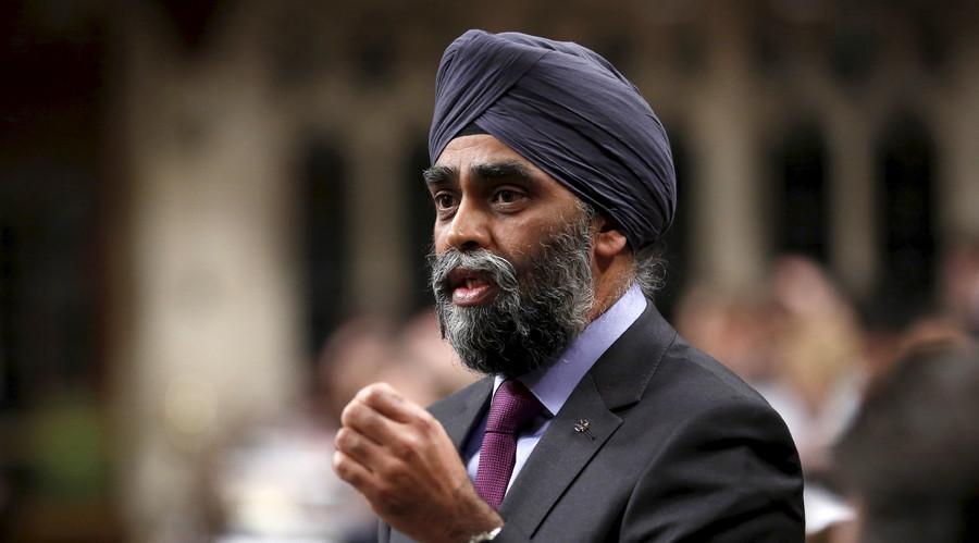 Canada's Defence Minister Harjit Sajjan. © Chris Wattie