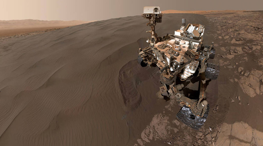 Self-portrait of NASA's Curiosity Mars rover. © NASA