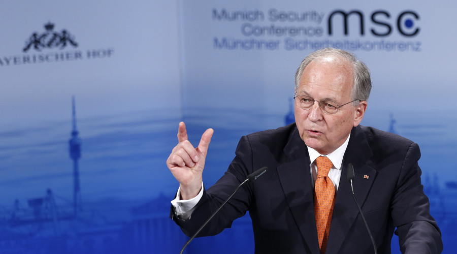 The chairman of the Conference on Security Policy Wolfgang Ischinger addresses during the 51st Munich Security Conference in Munich February 6, 2015.© Michaela Rehle