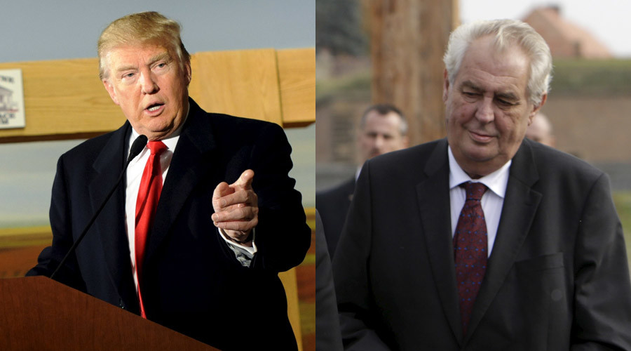 A combination photo shows U.S. Republican presidential candidate Donald Trump and Czech Republic's President Milos Zeman © Mark Kauzlarich; David W Cerny / Reuters