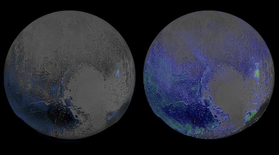 Pluto's Widespread Water Ice © NASA