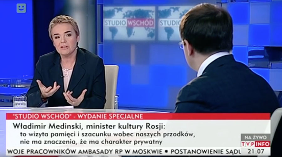 Polish TV producer fired after apologizing to Russian minister over bad-tempered WW2 interview