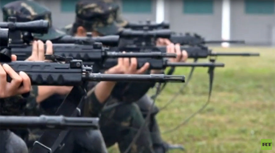 Chinese snipers show off firing skills in heavy rain (VIDEO)