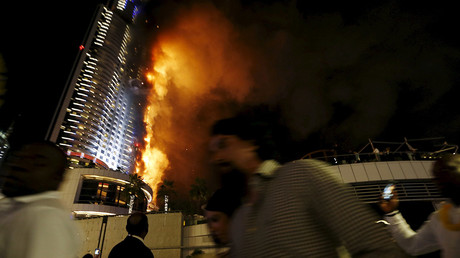 Dubai hotel catches fire ahead of New Year's Day celebrations