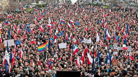 Anti-government protest in Poznan, Poland © Agencja Gazeta