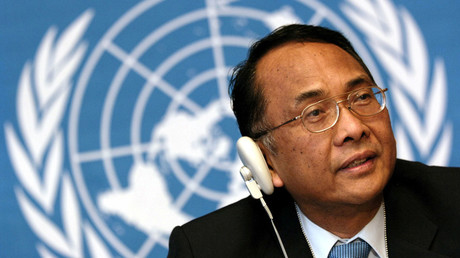 Makarim Wibisono cited his frustration with Israel's denial of access to Palestinian territories. © Denis Balibouse
