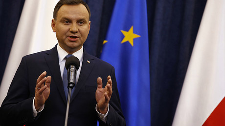 Poland's President Andrzej Duda speaks during his announcement at Presidential Palace in Warsaw, Poland December 28, 2015. © Kacper Pempel