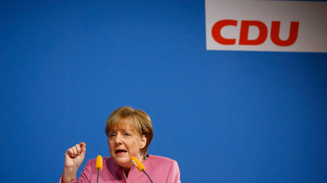 Angela Merkel at the Christian Democratic Union (CDU) New Year reception in Mainz, Germany. © Kai Pfaffenbach