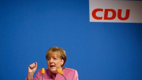 Angela Merkel at the Christian Democratic Union (CDU) New Year reception in Mainz, Germany. © Kai Pfaffenbach