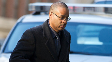 Caesar Goodson arrives at the courthouse for the first day of jury selection in Baltimore, Maryland, January 11, 2016. ©Jose Luis Magana