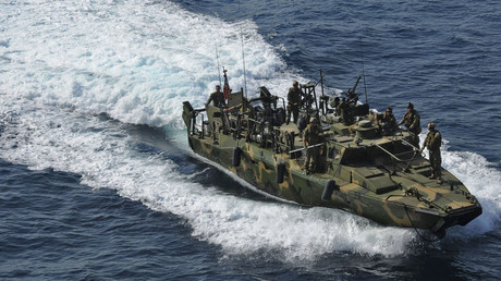 The type of riverine command boat apprehended by Iran. © Reuters