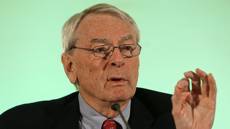 World Anti-Doping Agency's (WADA) former president, Dick Pound, who heads the commission into corruption and doping in athletics. ©Michael Dalder